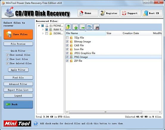 Check-all-lost-data-users-want-to-restore-from-CD-or-DVD