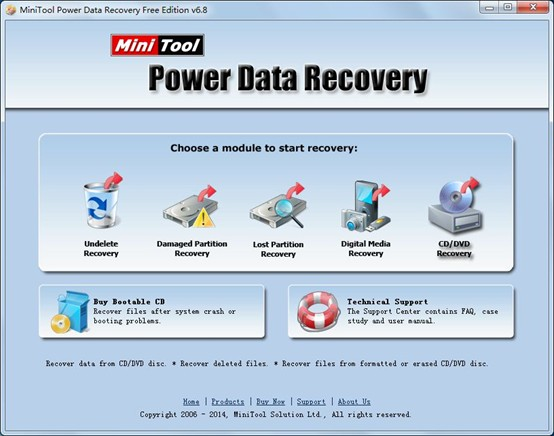 Use-MiniTool-to-recover-deleted-files-from-CD-for-free